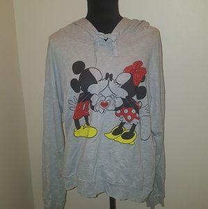 Disney gray Mickey and Minnie sweatshirt Size XL